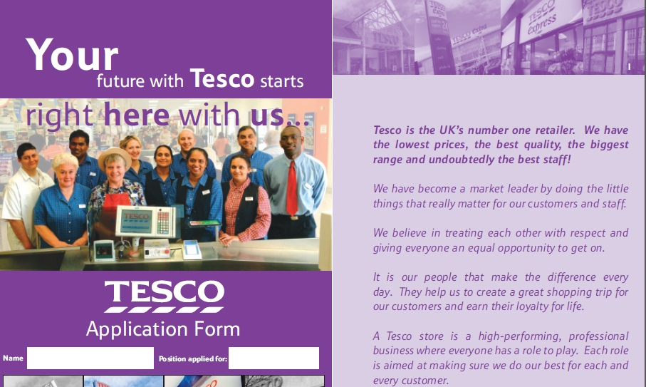 tesco online job application pdf august 2018 free job applications