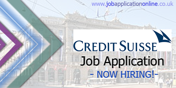 Credit Suisse Job Application