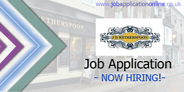 J D Wetherspoon Job Application