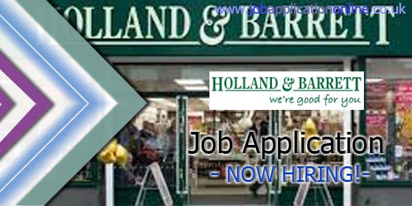 Holland & Barrett Retail Job Application
