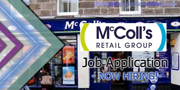 McColl's Job Application