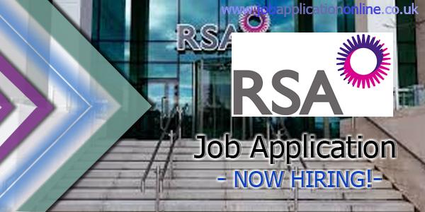 RSA Insurance Job Application